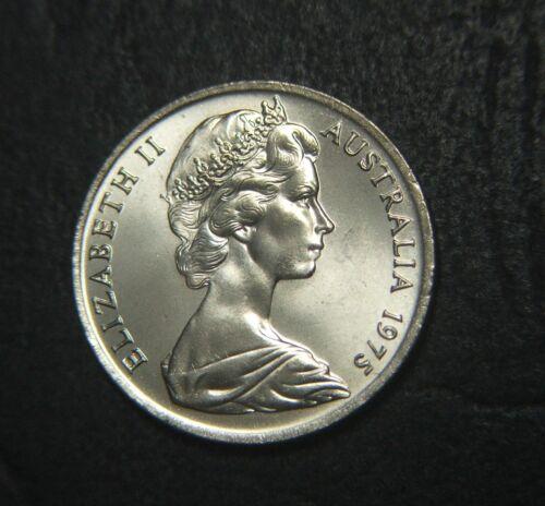 from mint roll 1975 Australian 10 cent piece UNC
