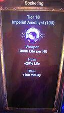 Diablo 3 Ros Imperial Gemas Para Anillo Encantador Xbox One De Manualidades 100 de cada gema