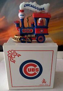 Danbury Mint 2005 Chicago Cubs Baseball Train Santa Christmas Ornament