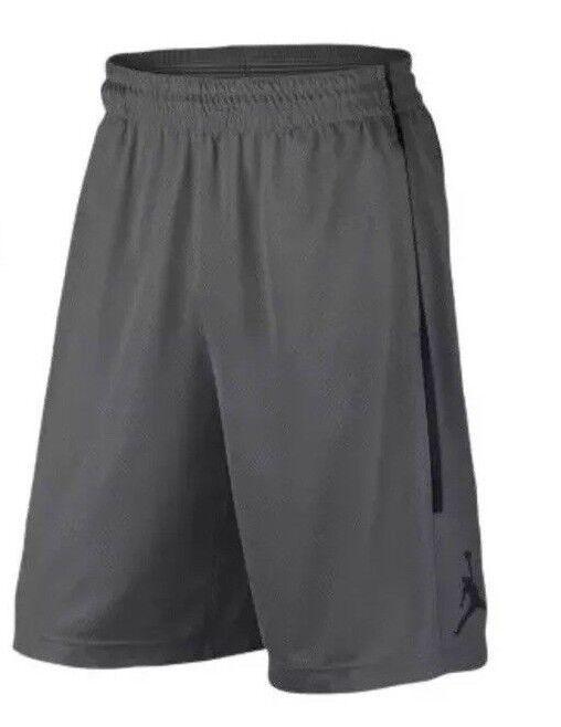 Originale Nike Air Jordan Doppio Incrocio Grigio Pantaloncini Da Basket