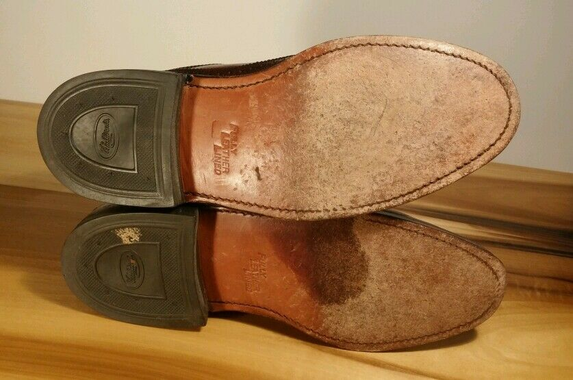EUC! Vtg Custom British Walkers Oxford Wingtip Pebble Grain Dress D Shoes 7.5 D Dress