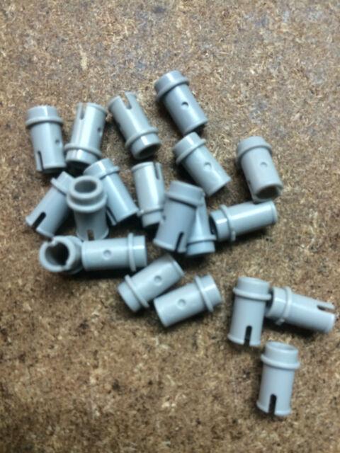 x20 NEW Light Bluish Gray Technic, Pin 1/2 , Lego Bulk lot