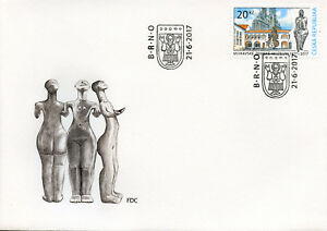Czech-Republic-2017-FDC-Moravian-Museum-200-Yrs-1v-Set-Cover-Architecture-Stamps