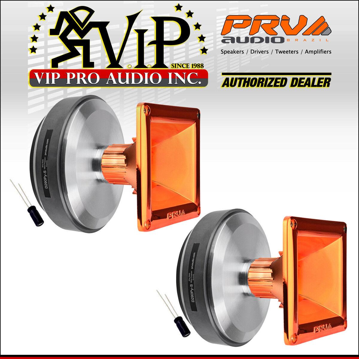 2 x PRV D290Py-S 1  Compression Driver + WG11-25 orange CR Waveguide + CAPACITOR