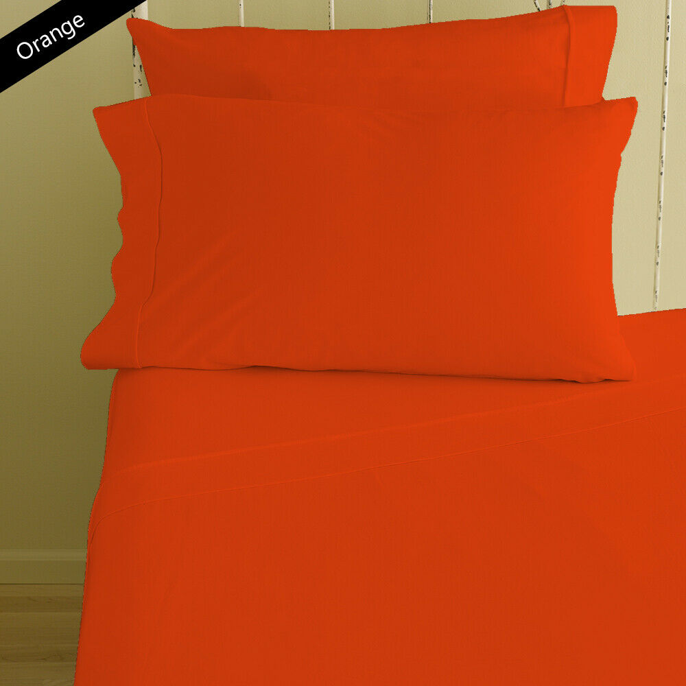 Best Bedding Items 1000 Thread Count Egyptian Cotton arancia Solid AU Dimensiones