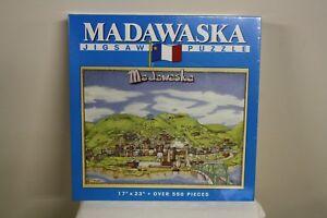 "Madawaska Maine Jigsaw Puzzle Aroostook County Acadian Flag 17/""x23/"" 550 pieces"