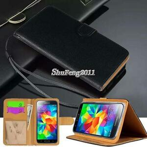 Black-Flip-Cover-Stand-Wallet-Leather-Case-For-Samsung-Galaxy-S1-2-3-4-5-6-7-8
