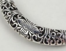54mm  Silver Pewter Engraved Curve Tube Connector Bead  Lead-Free