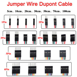 New F-F F-M M-M Jump Wire 1 2 3 4 5 6 Pin Dupont Cable 5 10 20 30 ...