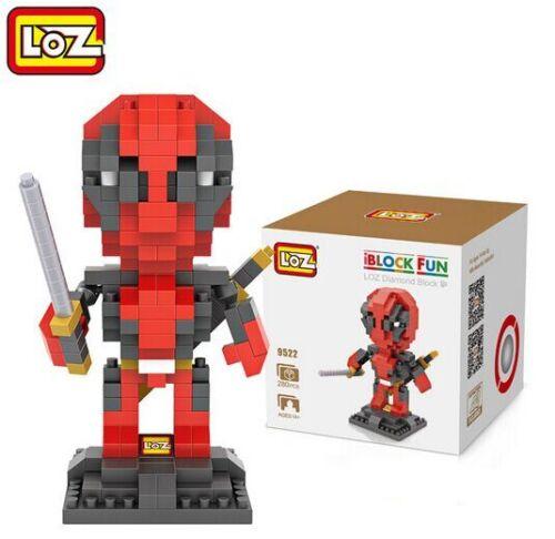 Hot LOZ Diamond Blocks iBLOCK FUN 9522 Deadpool Mini Nano Building Toy Spielzeug