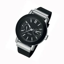 Esprit Uhr Loft black Quarz Tag Datum Silikonband Damenuhr Modeuhr ES105612001