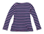 George-Womens-Size-12-Striped-Cotton-Blue-Top-Regular thumbnail 2