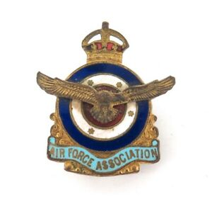 VINTAGE-AIR-FORCE-ASSOCIATION-ENAMEL-BADGE-No-39992