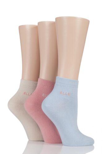 Femmes 3 paire elle uni confort poignet coton chaussettes avec main lié orteils
