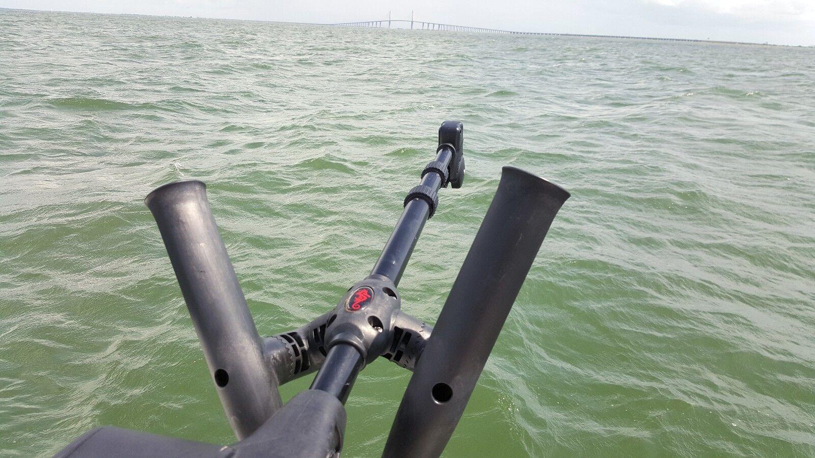 ADJUSTABLE Downrigger PENN CANNON SEAHORSE Downrigger ADJUSTABLE Dual Rod holder by Troll-Master bcc6fd