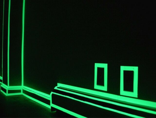 Luminous Photoluminescent Glow In The Dark  Home Decor Tape Green & Blue