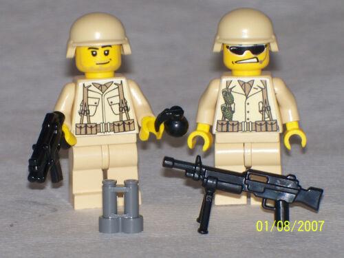 Lego 2 Custom Minifig WW2 USMC MODERN WARFARE SOLDIERS