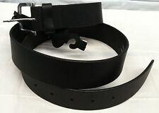"Paul Walter Men Black Belt Size 38-40 Cowhide Leather Width 1 7/16"" Thick 1/8"""