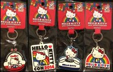 Hello Kitty Con 2014 40th Anniversary EXCLUSIVE, Complete 4 Piece Keychain Set