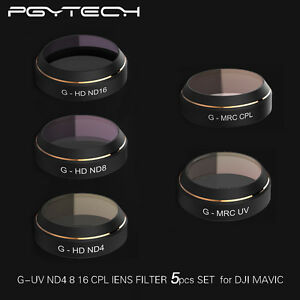 PGY-G-UV-ND8-ND16-CPL-HD-Objektiv-Filter-Set-Quadcopter-Fuer-DJI-Mavic-PRO-Drone