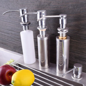 Stainless-Steel-Soap-Dispenser-Lotion-Kitchen-Sink-Faucet-Shampoo-Pump-300-350ML