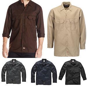 Dickies-Long-s-work-shirt-travail-chemise-chemises