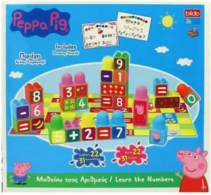 Peppa-Pig-Aprender-Los-Numeros-Apilables-Bloques-50-Pieza-Playset-de-Juguete