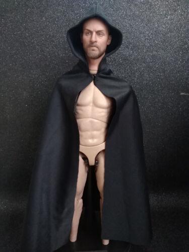 "1//6 Scale Cape Black Cloak With Cap Model FOR 12/"" HT DAM Male Body Doll"
