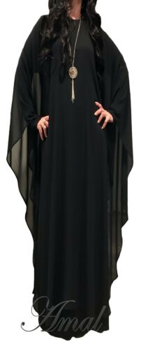 ❤️AMAL Muslim Women Kaftan Abaya Islamic Long Sleeve Long Maxi Dress New USA