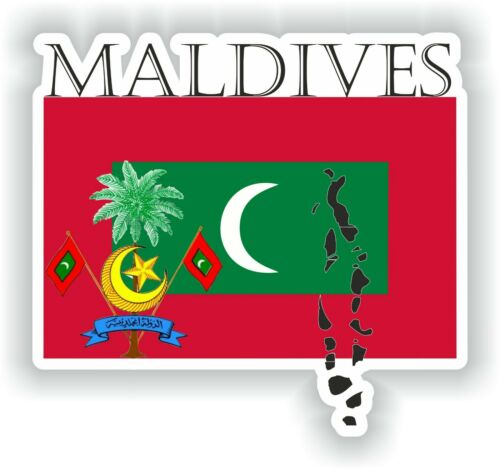 Sticker of Maldives Decal for Bumper Travel Car Laptop Tablet Suitcase Hollidays