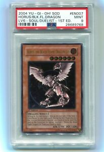 2004-Yu-Gi-Oh-1st-Horus-The-Black-Flame-Dragon-LV6-SOD-EN007-Ultimate-PSA-9