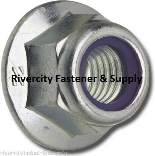 M10-1.5 or 10mm Metric Hex Flange Stop Lock Nut 2 Nylon Insert DIN 6926