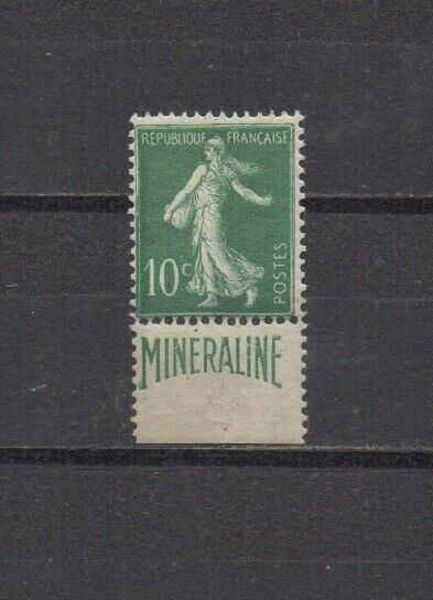100% De Qualité France : N° 188 A (10 C. Semeuse Camée Publicité Minéraline) **. Cote 725 €.