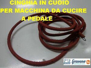 CINGHIA DI CUOIO  MACCHINA MACCHINE DA PER CUCIRE A PEDALE //