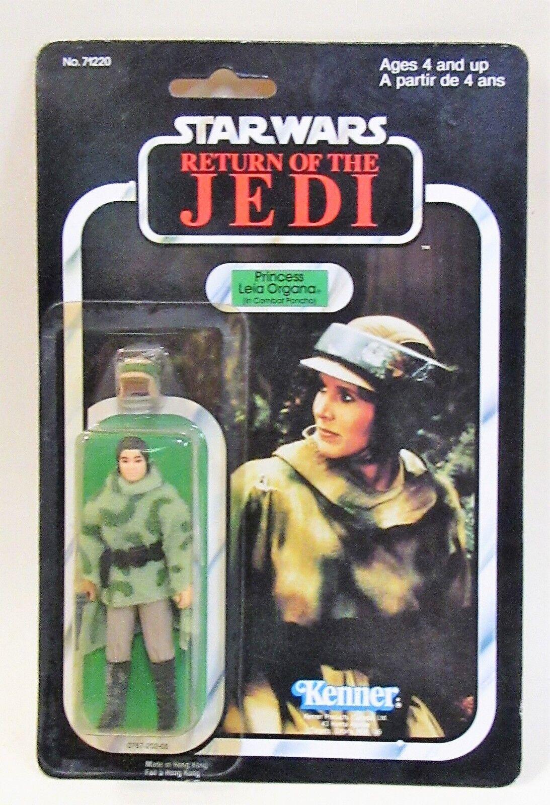 1983 Star Wars ROTJ PRINCESS LEIA ORGANA Combat Pancho figure CANADIAN MOC