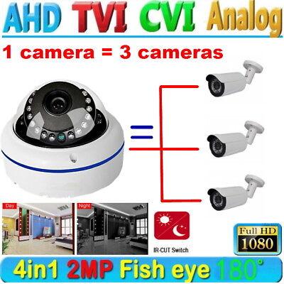 HD 1080P CCTV wired 2.0MP AHD camera 360 degree fisheye Night Vision dome USPS