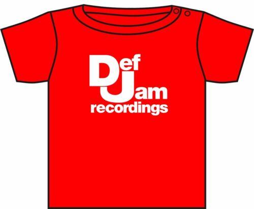 DEF JAM RECORDINGS T-SHIRT PUBLIC ENEMY BEASTIE BOYS ASST COLOURS 0-4 YEARS NEW