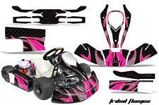 AMR Racing JR CRG Cadet Bambino Kart Graphic Decal Sticker Wrap Kit TRIBAL PINK