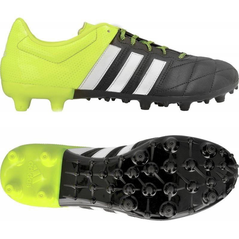 Adidas Ace 15.3 FgAg pelle 41 13 Sautope da Calcio pelle Neon Chaos