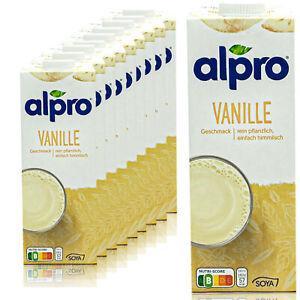 ALPRO-10-x-soia-drink-vaniglia-1-LITRI-Vanilla-Soya-Drink-Soia-100-vegetale