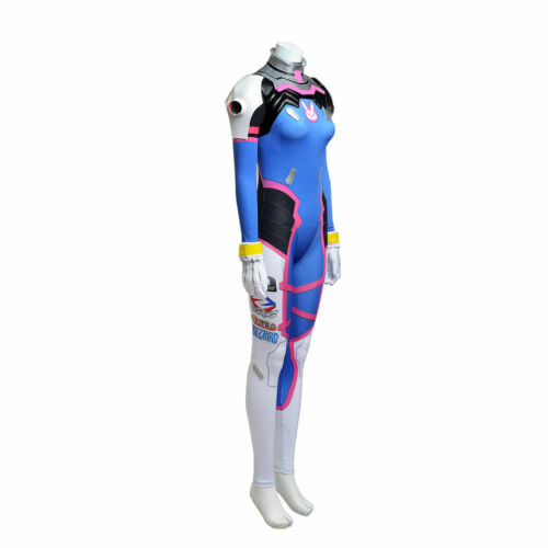 Va DVA Jumpsuit Outfits Cosplay Costume Halloween Overwatch OW Game D