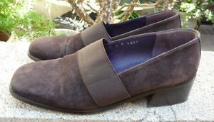 DONALD-J-PLINER-MADE-IN-SPAIN-SLIP-ON-SUEDE-LEATHER-SHOES-SIZE-8M-BROWN