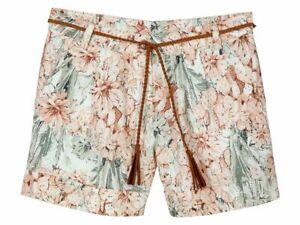 BZ Da Donna lino shorts pants Hüfthose Estate Pantaloni Corti con Cintura Nuovo