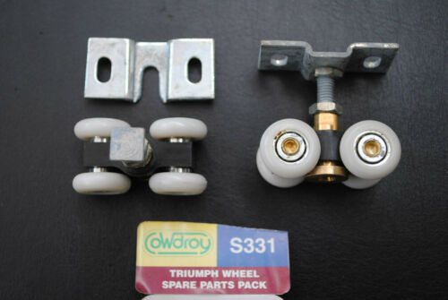 Cowdroy TT331 Triumph Sliding Slider Overhead Door Rollers Bearings 4 Wheels