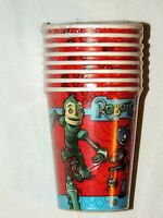Robots Vintage 8--paper Cups 9oz. Party Supplies