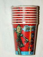 Robots Vintage 8--paper Cups 9oz. Party Supplies