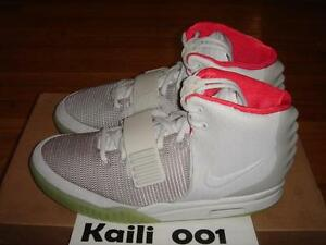 32124f15a56 Nike Air Yeezy 2 NRG Size 11.5 Platinum Solar Red October 508214-010 ...