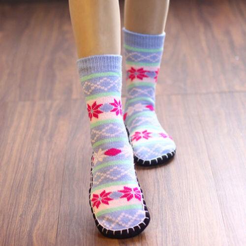 1 Paar Damen Hausschuhsocken Gestrickt Rutschfest Innen Stiefeletten Schuhe