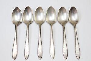 6-1847-Rogers-Bros-Argosy-Muster-ist-Silverplate-Bestecke-Teeloeffel