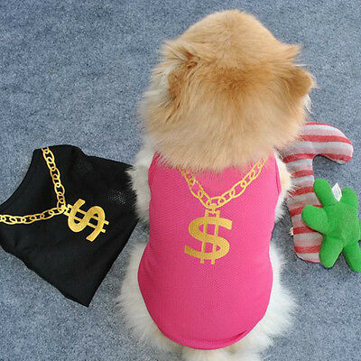 NEW Fashion Summer Pet Puppy Small Dog Cat Pet Clothes Vest T Shirt Apparel XS-L
